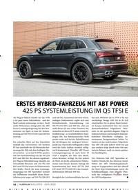 Titelbild der Ausgabe 6/2020 von eMOBILITY: ERSTES HYBRID-FAHRZEUG MIT ABT POWER 425 PS SYSTEMLEISTUNG IM Q5 TFSI E. Zeitschriften als Abo oder epaper bei United Kiosk online kaufen.