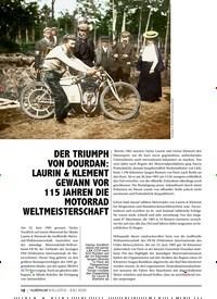 Titelbild der Ausgabe 7/2020 von DER TRIUMPH VON DOURDAN: LAURIN & KLEMENT GEWANN VOR 115 JAHREN DIE MOTORRAD WELTMEISTERSCHAFT. Zeitschriften als Abo oder epaper bei United Kiosk online kaufen.