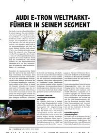 Titelbild der Ausgabe 8/2020 von AUDI E-TRON WELTMARKTFÜHRER IN SEINEM SEGMENT. Zeitschriften als Abo oder epaper bei United Kiosk online kaufen.
