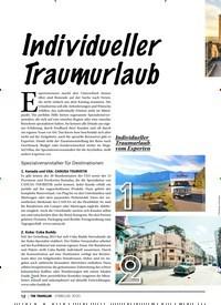 Titelbild der Ausgabe 2/2020 von Individueller Traumurlaub. Zeitschriften als Abo oder epaper bei United Kiosk online kaufen.