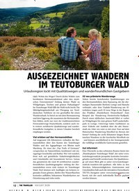 Titelbild der Ausgabe 8/2020 von AUSGEZEICHNET WANDERN IM TEUTOBURGER WALD. Zeitschriften als Abo oder epaper bei United Kiosk online kaufen.