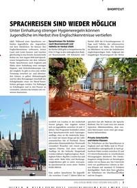 Titelbild der Ausgabe 9/2020 von SHORTCUT: SPRACHREISEN SIND WIEDER MÖGLICH. Zeitschriften als Abo oder epaper bei United Kiosk online kaufen.
