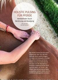 Titelbild der Ausgabe 4/2019 von HOLISTIC PULSING FÜR PFERDE. Zeitschriften als Abo oder epaper bei United Kiosk online kaufen.
