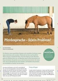 Titelbild der Ausgabe 1/2020 von Pferdesprache – (k)ein Problem?. Zeitschriften als Abo oder epaper bei United Kiosk online kaufen.