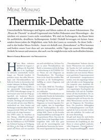 Titelbild der Ausgabe 4/2018 von Meine Meinung: Thermik-Debatte. Zeitschriften als Abo oder epaper bei United Kiosk online kaufen.
