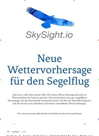 Titelbild der Ausgabe 6/2018 von Neue Wettervorhersage für den Segelflug. Zeitschriften als Abo oder epaper bei United Kiosk online kaufen.