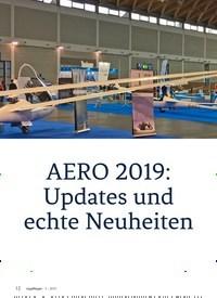 Titelbild der Ausgabe 3/2019 von AERO 2019: Updates und echte Neuheiten. Zeitschriften als Abo oder epaper bei United Kiosk online kaufen.