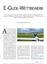 Titelbild der Ausgabe 4/2019 von E-GLIDE-WETTBEWERB. Zeitschriften als Abo oder epaper bei United Kiosk online kaufen.
