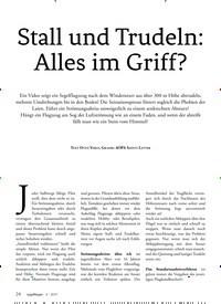 Titelbild der Ausgabe 4/2019 von Stall und Trudeln: Alles im Griff?. Zeitschriften als Abo oder epaper bei United Kiosk online kaufen.