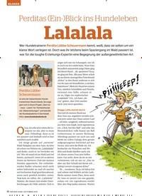 Titelbild der Ausgabe 9/2019 von GLOSSE: Perditas (Ein-)Blick ins Hundeleben Lalalala. Zeitschriften als Abo oder epaper bei United Kiosk online kaufen.