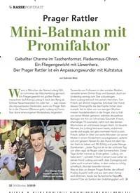 Titelbild der Ausgabe 3/2019 von Prager Rattler: Mini-Batman mit Promifaktor. Zeitschriften als Abo oder epaper bei United Kiosk online kaufen.