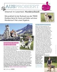 Titelbild der Ausgabe 6/2019 von AUSPROBIERT: Diesmal im Lesertest: Hunderucksack. Zeitschriften als Abo oder epaper bei United Kiosk online kaufen.