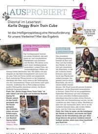 Titelbild der Ausgabe 2/2020 von AUSPROBIERT: Diesmal im Lesertest: Karlie Doggy Brain Train Cube. Zeitschriften als Abo oder epaper bei United Kiosk online kaufen.