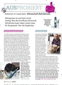 Titelbild der Ausgabe 4/2020 von AUSPROBIERT: Diesmal im Lesertest: Ultraschall-Zahnbürste. Zeitschriften als Abo oder epaper bei United Kiosk online kaufen.