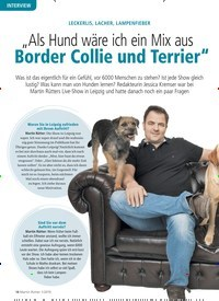 """Titelbild der Ausgabe 1/2019 von INTERVIEW: LECKERLIS, LACHER, LAMPENFIEBER: """"Als Hund wäre ich ein Mix aus Border Collie und Terrier"""". Zeitschriften als Abo oder epaper bei United Kiosk online kaufen."""