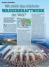 Titelbild der Ausgabe 1/2020 von FRAGEN & ANTWORTEN: Wo steht das stärkste WASSERKRAFTWERK der Welt?. Zeitschriften als Abo oder epaper bei United Kiosk online kaufen.