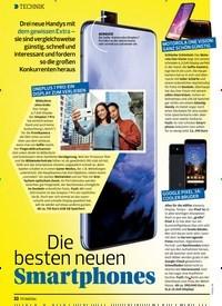 Titelbild der Ausgabe 15/2019 von Die besten neuen Smartphones. Zeitschriften als Abo oder epaper bei United Kiosk online kaufen.