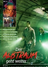 Titelbild der Ausgabe 18/2019 von KINO: Der:ALBTRAUM geht weiter. Zeitschriften als Abo oder epaper bei United Kiosk online kaufen.