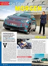 Titelbild der Ausgabe 20/2019 von AUTO-SPECIAL e-Mobilität: So fahren wir MORGEN: Das Elektroauto FÜR ALLE. Zeitschriften als Abo oder epaper bei United Kiosk online kaufen.