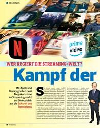 Titelbild der Ausgabe 22/2019 von WER REGIERT DIE STREAMING-WELT? Kampf der Giganten. Zeitschriften als Abo oder epaper bei United Kiosk online kaufen.