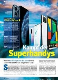 Titelbild der Ausgabe 23/2019 von Kampf der Superhandys. Zeitschriften als Abo oder epaper bei United Kiosk online kaufen.
