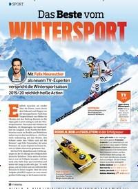 Titelbild der Ausgabe 24/2019 von Das Beste vom WINTERSPORT. Zeitschriften als Abo oder epaper bei United Kiosk online kaufen.