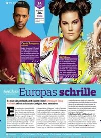 Titelbild der Ausgabe 10/2018 von TV AKTUELL: Europas schrille MEGASHOW. Zeitschriften als Abo oder epaper bei United Kiosk online kaufen.