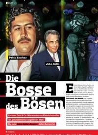 Titelbild der Ausgabe 14/2018 von DOKU: Die Bosse des Bösen. Zeitschriften als Abo oder epaper bei United Kiosk online kaufen.