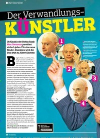 Titelbild der Ausgabe 15/2018 von INTERVIEW: Der Verwandlungs-KÜNSTLER. Zeitschriften als Abo oder epaper bei United Kiosk online kaufen.