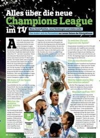 Titelbild der Ausgabe 19/2018 von SPORT: Alles über die neue Champions League im TV. Zeitschriften als Abo oder epaper bei United Kiosk online kaufen.