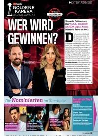 Titelbild der Ausgabe 19/2018 von ENTERTAINMENT: WER WIRD GEWINNEN?. Zeitschriften als Abo oder epaper bei United Kiosk online kaufen.