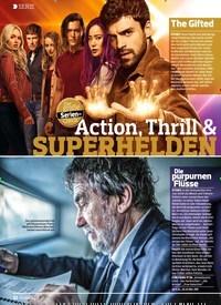 Titelbild der Ausgabe 22/2018 von SERIE: Action, Thrill & SUPERHELDEN. Zeitschriften als Abo oder epaper bei United Kiosk online kaufen.