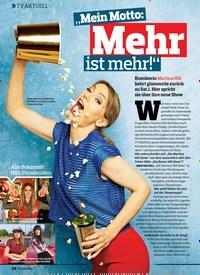 """Titelbild der Ausgabe 22/2018 von TV AKTUELL: """"Mei n Motto: Mehr ist mehr!"""". Zeitschriften als Abo oder epaper bei United Kiosk online kaufen."""