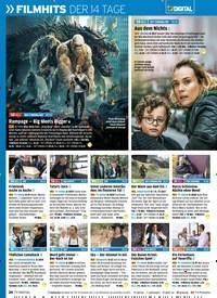 Titelbild der Ausgabe 2/2019 von FILMHITS DER 14 TAGE PLUS: ALLE SKY-NEUSTARTS. Zeitschriften als Abo oder epaper bei United Kiosk online kaufen.