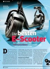 Titelbild der Ausgabe 11/2019 von Diebesten E-Scooter. Zeitschriften als Abo oder epaper bei United Kiosk online kaufen.