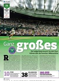 Titelbild der Ausgabe 13/2019 von Ganz grobes Tennis. Zeitschriften als Abo oder epaper bei United Kiosk online kaufen.