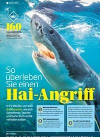Titelbild der Ausgabe 15/2019 von REPORT: So überleben Sie einen: Hai-Angriff. Zeitschriften als Abo oder epaper bei United Kiosk online kaufen.