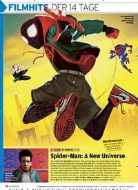 Titelbild der Ausgabe 17/2019 von FILMHITS DER 14 TAGE: SpiderMan: A New Universe. Zeitschriften als Abo oder epaper bei United Kiosk online kaufen.