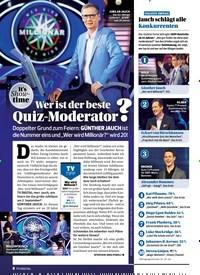 Titelbild der Ausgabe 18/2019 von It's Show-time: Wer ist der beste Quiz-Moderator?. Zeitschriften als Abo oder epaper bei United Kiosk online kaufen.