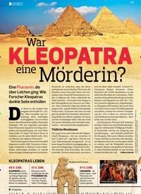 Titelbild der Ausgabe 19/2019 von DOKU: War KLEOPATRA eine Mörderin?. Zeitschriften als Abo oder epaper bei United Kiosk online kaufen.