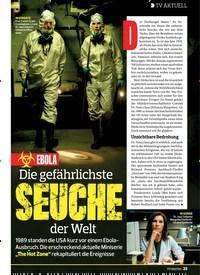 Titelbild der Ausgabe 19/2019 von TV AKTUELL: EBOLA: Die gefährlichste SEUCHE der Welt. Zeitschriften als Abo oder epaper bei United Kiosk online kaufen.