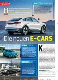 Titelbild der Ausgabe 20/2019 von AUTO-SPECIAL e-Mobilität: Die neuen E-CARS. Zeitschriften als Abo oder epaper bei United Kiosk online kaufen.