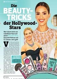 Titelbild der Ausgabe 21/2019 von ENTERTAINMENT: Die BEAUTYTRICKS der Hollywood-Stars. Zeitschriften als Abo oder epaper bei United Kiosk online kaufen.