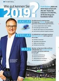 Titelbild der Ausgabe 26/2019 von TV AKTUELL: Wie gut kennen Sie 2019?. Zeitschriften als Abo oder epaper bei United Kiosk online kaufen.