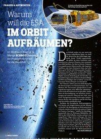 Titelbild der Ausgabe 2/2020 von FRAGEN & ANTWORTEN: Warum will die ESA IM ORBIT AUFRÄUMEN?. Zeitschriften als Abo oder epaper bei United Kiosk online kaufen.