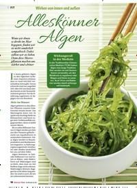 Titelbild der Ausgabe 4/2018 von Wirken von innen und außen: Alleskönner Algen. Zeitschriften als Abo oder epaper bei United Kiosk online kaufen.