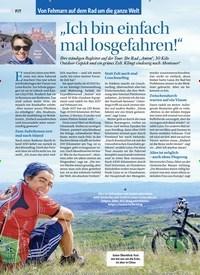 """Titelbild der Ausgabe 4/2018 von Von Fehmarn auf dem Rad um die ganze Welt: """"Ich bin einfach mal losgefahren!"""". Zeitschriften als Abo oder epaper bei United Kiosk online kaufen."""