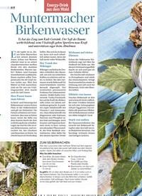 Titelbild der Ausgabe 2/2019 von Energy-Drink aus dem Wald: Muntermacher Birkenwasser. Zeitschriften als Abo oder epaper bei United Kiosk online kaufen.