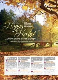Titelbild der Ausgabe 5/2019 von Happy Herbst:. Zeitschriften als Abo oder epaper bei United Kiosk online kaufen.