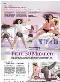 Titelbild der Ausgabe 5/2019 von Intervalltraining macht's möglich: Fit in 30 Minuten. Zeitschriften als Abo oder epaper bei United Kiosk online kaufen.
